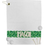 Tropical Leaves 2 Golf Towel (Personalized)