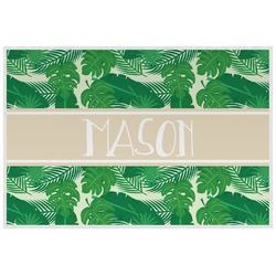 Tropical Leaves #2 Laminated Placemat w/ Name or Text