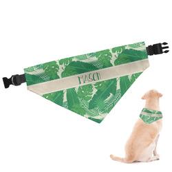 Tropical Leaves 2 Dog Bandana (Personalized)