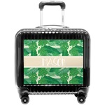 Tropical Leaves #2 Pilot / Flight Suitcase w/ Name or Text