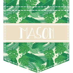 Tropical Leaves 2 Iron On Faux Pocket (Personalized)