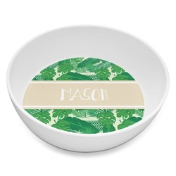 Tropical Leaves 2 Melamine Bowl 8oz (Personalized)