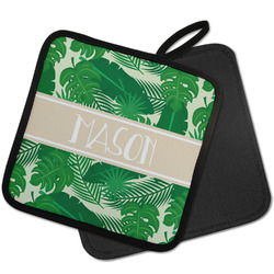 Tropical Leaves #2 Pot Holder w/ Name or Text
