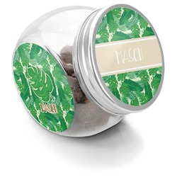 Tropical Leaves 2 Puppy Treat Jar (Personalized)