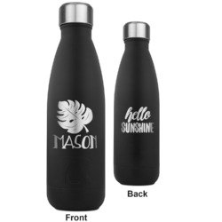 Tropical Leaves 2 RTIC Bottle - Black - Engraved Front & Back (Personalized)