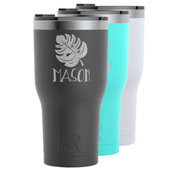 Tropical Leaves #2 RTIC Tumbler - 30 oz (Personalized)