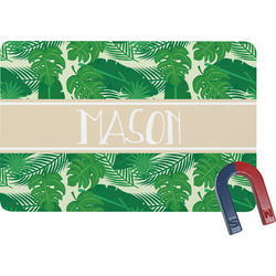 Tropical Leaves 2 Rectangular Fridge Magnet (Personalized)