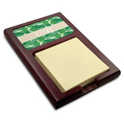 Tropical Leaves 2 Red Mahogany Sticky Note Holder (Personalized)