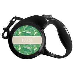 Tropical Leaves 2 Retractable Dog Leash (Personalized)
