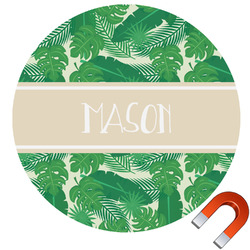 Tropical Leaves #2 Car Magnet (Personalized)