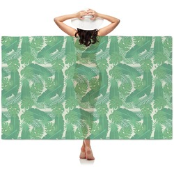Tropical Leaves 2 Sheer Sarong (Personalized)