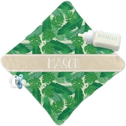 Tropical Leaves 2 Security Blanket (Personalized)
