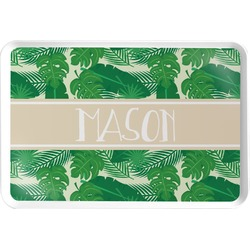 Tropical Leaves #2 Serving Tray w/ Name or Text
