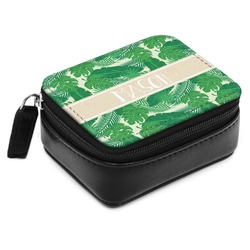 Tropical Leaves 2 Small Leatherette Travel Pill Case (Personalized)