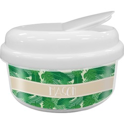Tropical Leaves #2 Snack Container (Personalized)