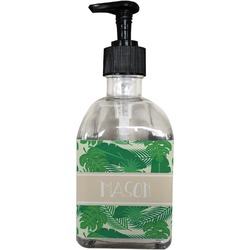 Tropical Leaves 2 Soap/Lotion Dispenser (Glass) (Personalized)