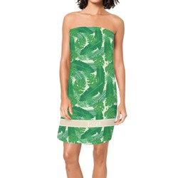 Tropical Leaves 2 Spa / Bath Wrap (Personalized)