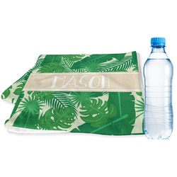 Tropical Leaves 2 Sports & Fitness Towel (Personalized)