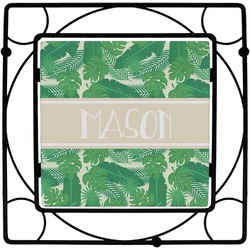 Tropical Leaves 2 Square Trivet (Personalized)