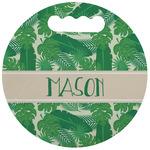 Tropical Leaves #2 Stadium Cushion (Round) (Personalized)