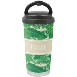 Tropical Leaves 2 Stainless Steel Travel Mug (Personalized)