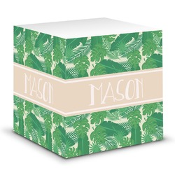 Tropical Leaves 2 Sticky Note Cube (Personalized)