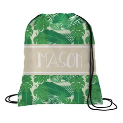 Tropical Leaves 2 Drawstring Backpack (Personalized)