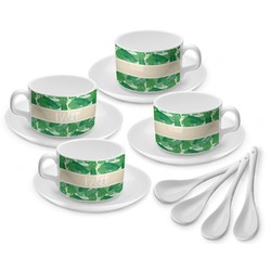 Tropical Leaves 2 Tea Cup - Set of 4 (Personalized)