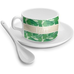 Tropical Leaves 2 Tea Cups (Personalized)