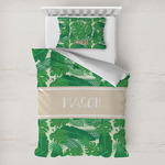 Tropical Leaves #2 Toddler Bedding w/ Name or Text