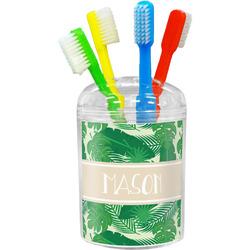 Tropical Leaves 2 Toothbrush Holder (Personalized)