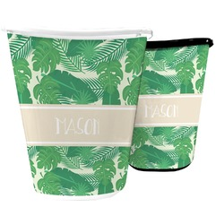 Tropical Leaves 2 Waste Basket (Personalized)