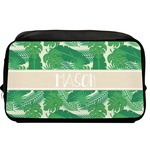Tropical Leaves #2 Toiletry Bag / Dopp Kit w/ Name or Text
