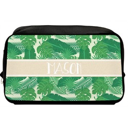 Tropical Leaves 2 Toiletry Bag / Dopp Kit (Personalized)