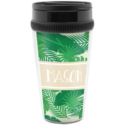 Tropical Leaves 2 Travel Mugs (Personalized)