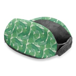 Tropical Leaves 2 Travel Neck Pillow (Personalized)