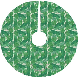 Tropical Leaves 2 Tree Skirt (Personalized)