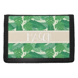 Tropical Leaves #2 Trifold Wallet w/ Name or Text