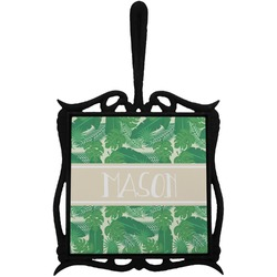 Tropical Leaves 2 Trivet with Handle (Personalized)