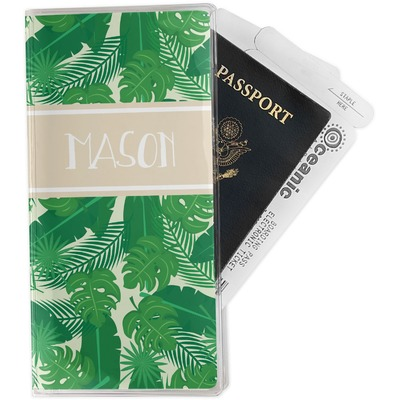 Tropical Leaves #2 Travel Document Holder