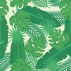 Tropical Leaves 2 Wallpaper & Surface Covering