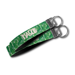 Tropical Leaves #2 Wristlet Webbing Keychain Fob (Personalized)