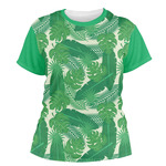 Tropical Leaves #2 Women's Crew T-Shirt (Personalized)