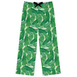 Tropical Leaves #2 Womens Pajama Pants (Personalized)