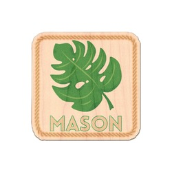 Tropical Leaves 2 Genuine Wood Sticker (Personalized)