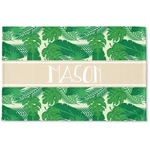 Tropical Leaves #2 Woven Mat w/ Name or Text