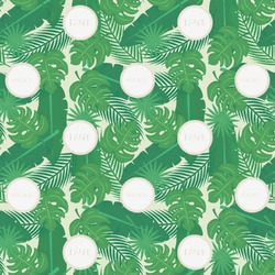 Tropical Leaves 2 Wrapping Paper (Personalized)