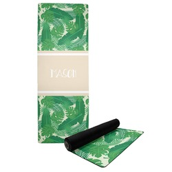 Tropical Leaves #2 Yoga Mat w/ Name or Text