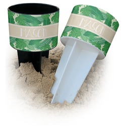 Tropical Leaves 2 Beach Spiker Drink Holder (Personalized)