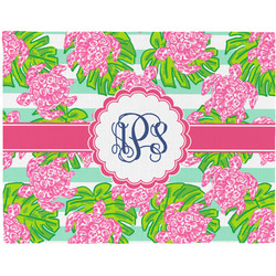 Preppy Woven Fabric Placemat - Twill w/ Monogram